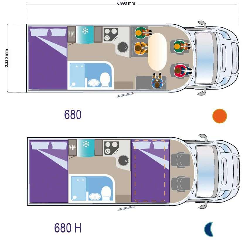 Autocaravana ILUSION XMK 680 H planta-680